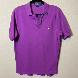 POLORALPHLAUREN Men's Small Purple Polo